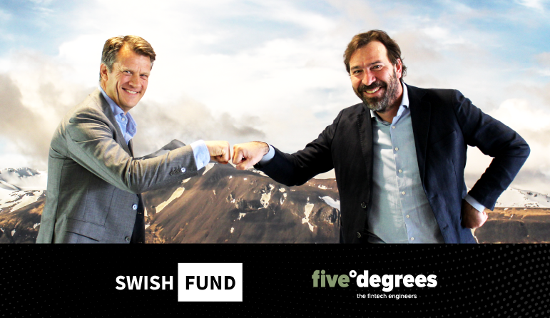 five°degrees announces Swishfund as a new client